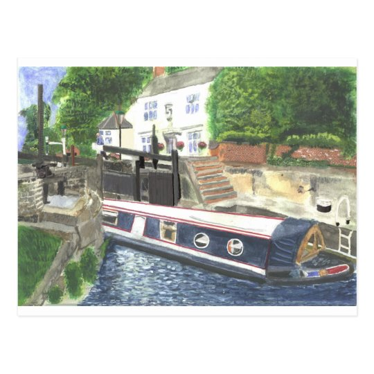 Beeston Canal Lock House Nottingham Postcard