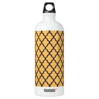 Beeswax And Black Maroccan Trellis Quatrefoil SIGG Traveller 1.0L Water Bottle