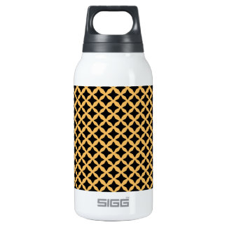 Beeswax And Black Seamless Mesh Pattern 10 Oz Insulated SIGG Thermos Water Bottle