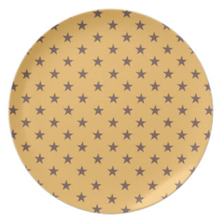 Beeswax And Brown Chocolate Stars Party Plates