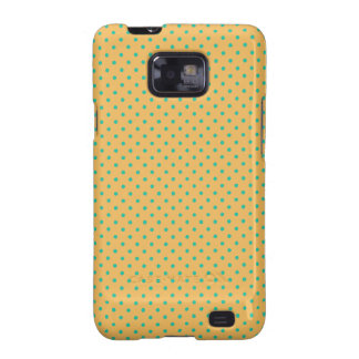 Beeswax And Emerald Green Small Polka Dots Pattern Samsung Galaxy S2 Case