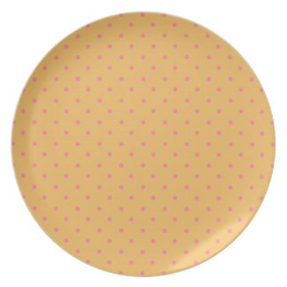 Beeswax And Pink Polka Dots Party Plates