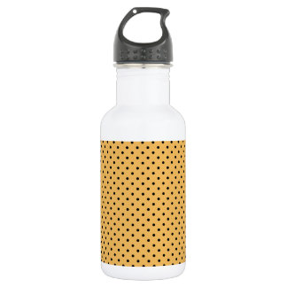 Beeswax And Small Black Polka Dots Pattern 532 Ml Water Bottle