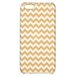 Beeswax-And-White Chevron-iPhone5- Casses-Pattern iPhone 5C Cases