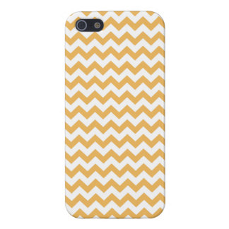 Beeswax-And-White Chevron-iPhone5- Casses-Pattern iPhone 5 Cover