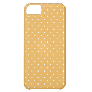 Beeswax-And-White-Polka-Dots iPhone 5C Case