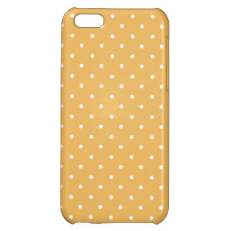 Beeswax-And-White--Polka-Dots-iPhone5-Casses iPhone 5C Covers