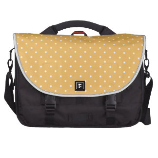 Beeswax-And-White-Polka-Dots Bag For Laptop