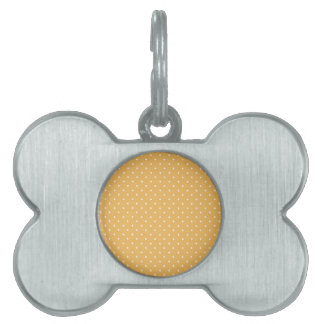 Beeswax-And-White-Polka-Dots Pet Tags
