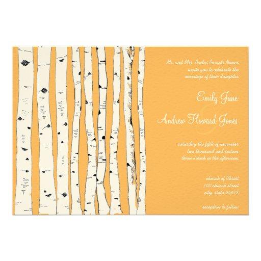 Beeswax Birch Tree Wedding Invitations