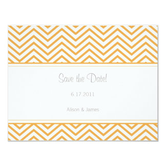 Beeswax Chevron Print Save the Date Annoucement 11 Cm X 14 Cm Invitation Card