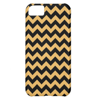 Beeswax Color And Black Zigzag Chevron Pattern iPhone 5C Case