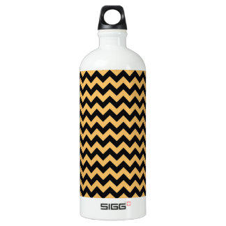 Beeswax Color And Black Zigzag Chevron Pattern SIGG Traveller 1.0L Water Bottle