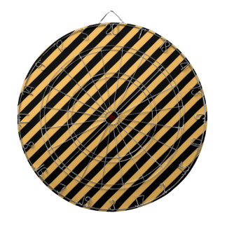 Beeswax Color And Oblique Black Stripes Pattern Dartboard