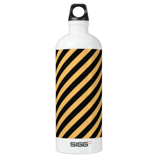 Beeswax Color And Oblique Black Stripes Pattern SIGG Traveller 1.0L Water Bottle