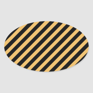 Beeswax Color And Oblique Black Stripes Pattern Stickers