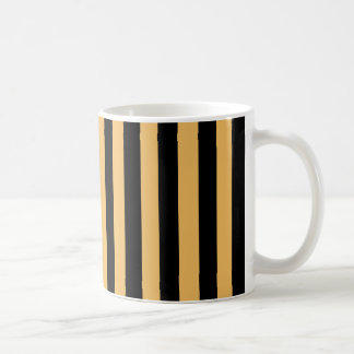 Beeswax Color And Vertical Black Stripes Patterns Mugs