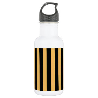 Beeswax Color And Vertical Black Stripes Patterns 532 Ml Water Bottle