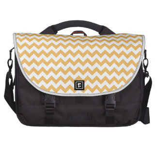 Beeswax-Color-And-White Chevron Laptop Bag