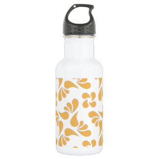 Beeswax Color And White Graphic Art Pattern 532 Ml Water Bottle