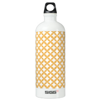 Beeswax Color And White Seamless Mesh Pattern SIGG Traveler 1.0L Water Bottle