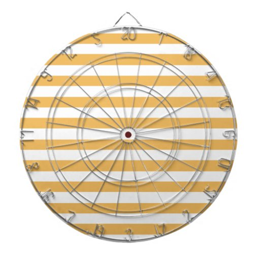 Beeswax Color And White Stripes Dartboard With Darts