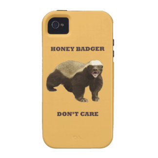 Beeswax Color Honey Badger Dont Care iPhone 4 Cover