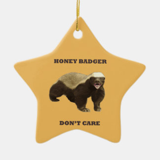 Beeswax Color Honey Badger Dont Care Christmas Tree Ornaments