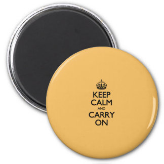 Beeswax Color Keep Calm And Carry On 6 Cm Round Magnet