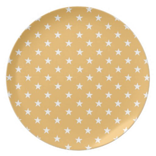 Beeswax Fashion Color And White Stars Dinner Plates