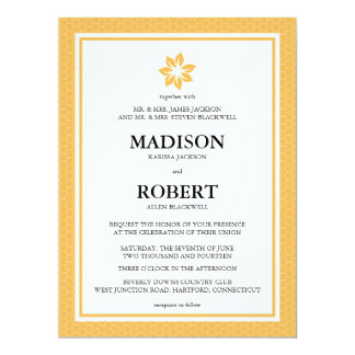 "Beeswax Honeycomb Wedding Invitations 6.5"" X 8.75"" Invitation Card"
