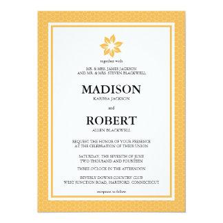 "Beeswax Honeycomb Wedding Invitations 5.5"" X 7.5"" Invitation Card"