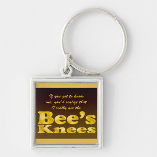 Beeswax Premium Keychain Silver-Colored Square Keychain