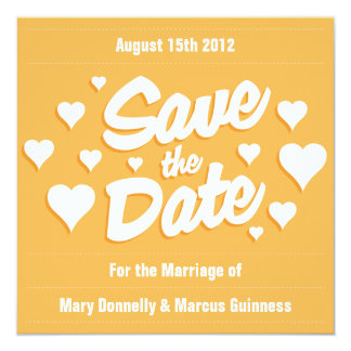 Beeswax Save the Date Hearts Invitation