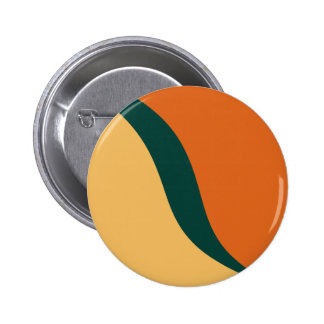 Beeswax, Teal, Tangerine Tango Graphic Art Pattern Pinback Buttons