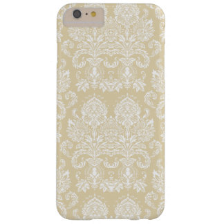 Beeswax Victorian Damask Barely There iPhone 6 Plus Case