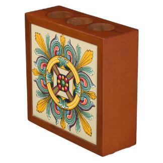 Beeswax Victorian Tile Design Desk Organisers
