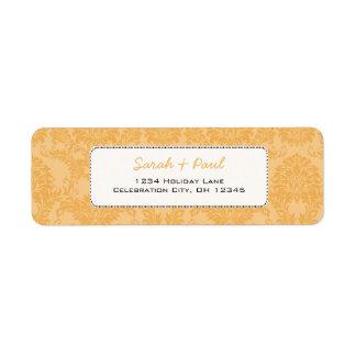 Beeswax Vintage Damask Return Address Return Address Label