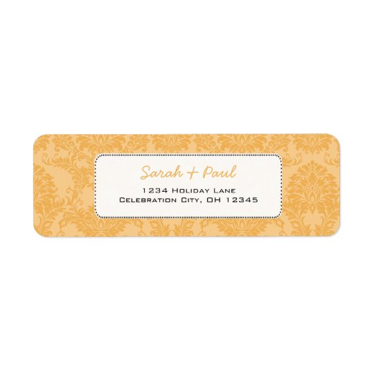 Beeswax Vintage Damask Return Address Return Address Label
