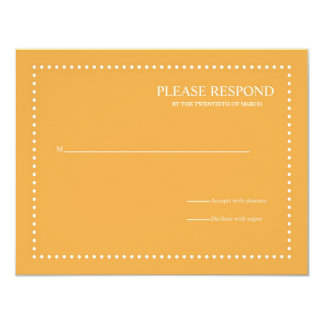 Beeswax Wedding Response Card with Pearl Border 11 Cm X 14 Cm Invitation Card