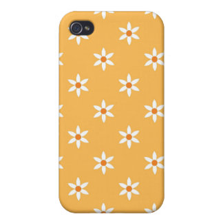 Beeswax Yellow Flower Print Iphone 4 Cover