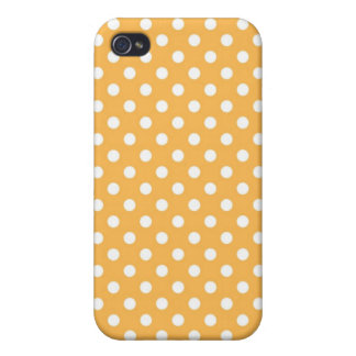 Beeswax Yellow Medium Polka Dot Iphone 4 Case
