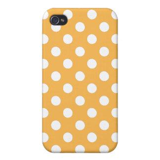 Beeswax Yellow Polka Dot Iphone 4 Case