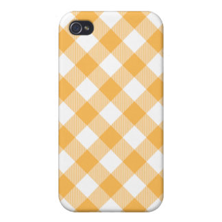 Beeswax Yellow Woven Gingham Iphone 4 Case