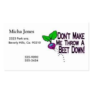 Beet Down Double-Sided Standard Business Cards (Pack Of 100)