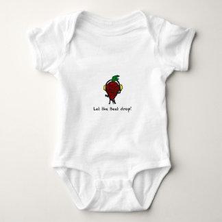 Beet Drop Baby Bodysuit