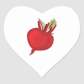 Beet Heart Base Heart Sticker