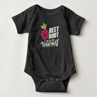 Beet Root To Yourself Baby Bodysuit