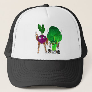 BeetBot and BroccoliBot Trucker Hat