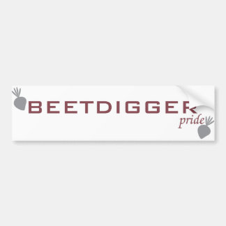 BEETDIGGER pride Bumper Sticker Car Bumper Sticker